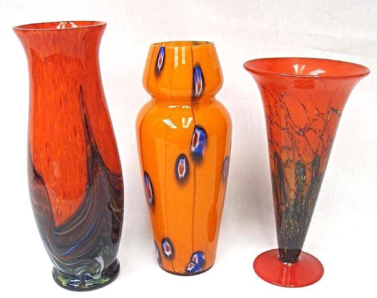 Three (3) Murano Style Art Glass Vases - 2