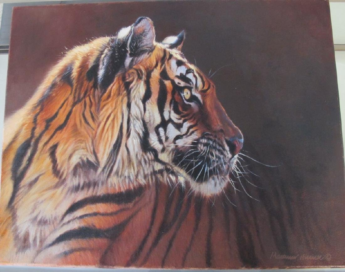 Tiger Painting by Matthew Hillier (England/UK born - 2