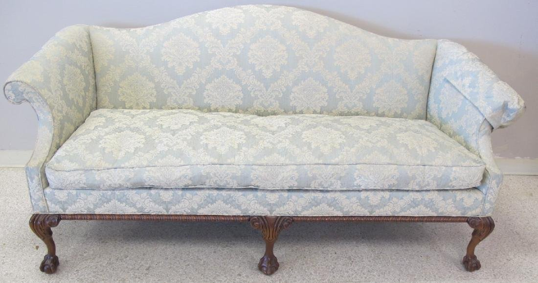 Victorian Upholstered Camel Back Couch