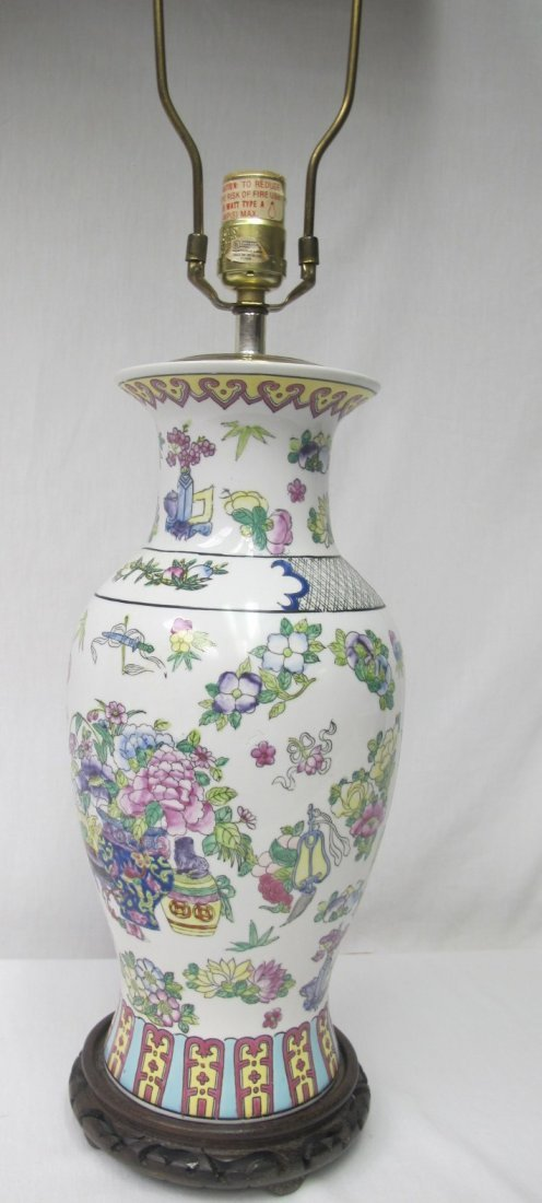 Chinese Porcelain Vase Converted to Lamp