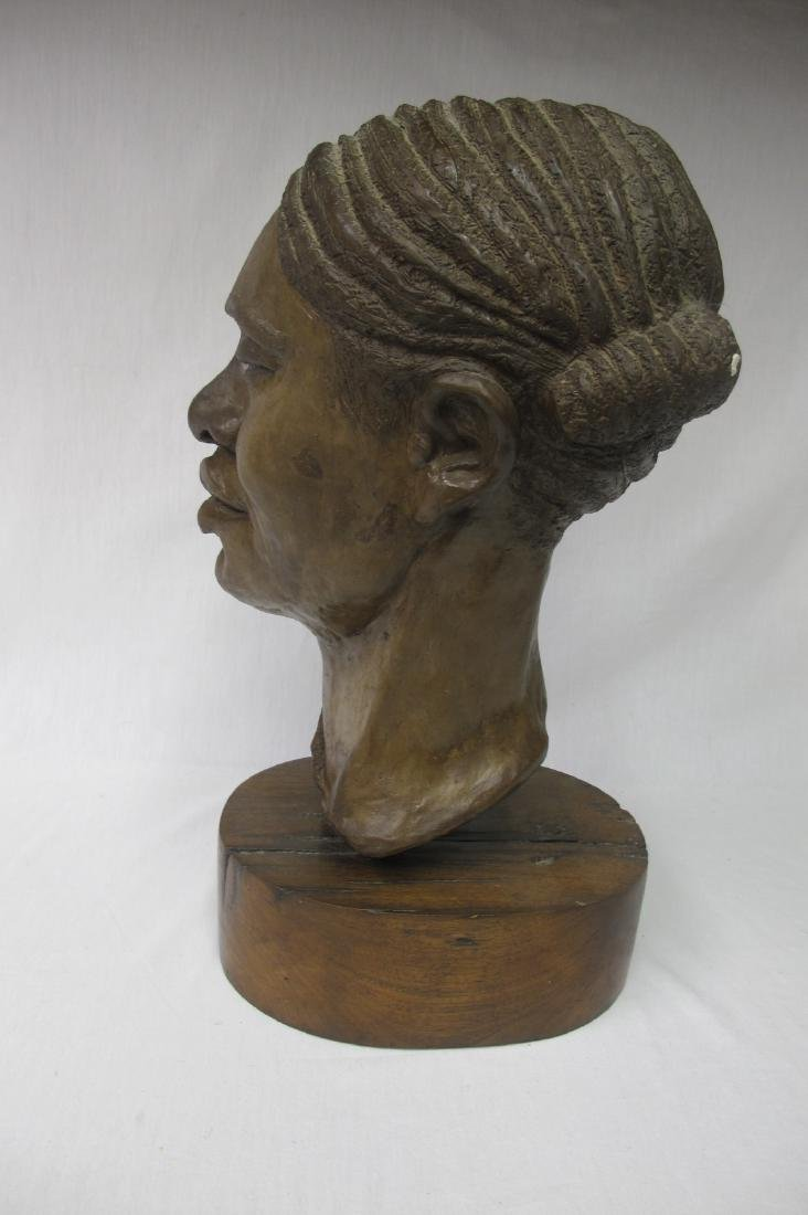 Plaster Sculpture on Wood Base by Carol Wyman - 2