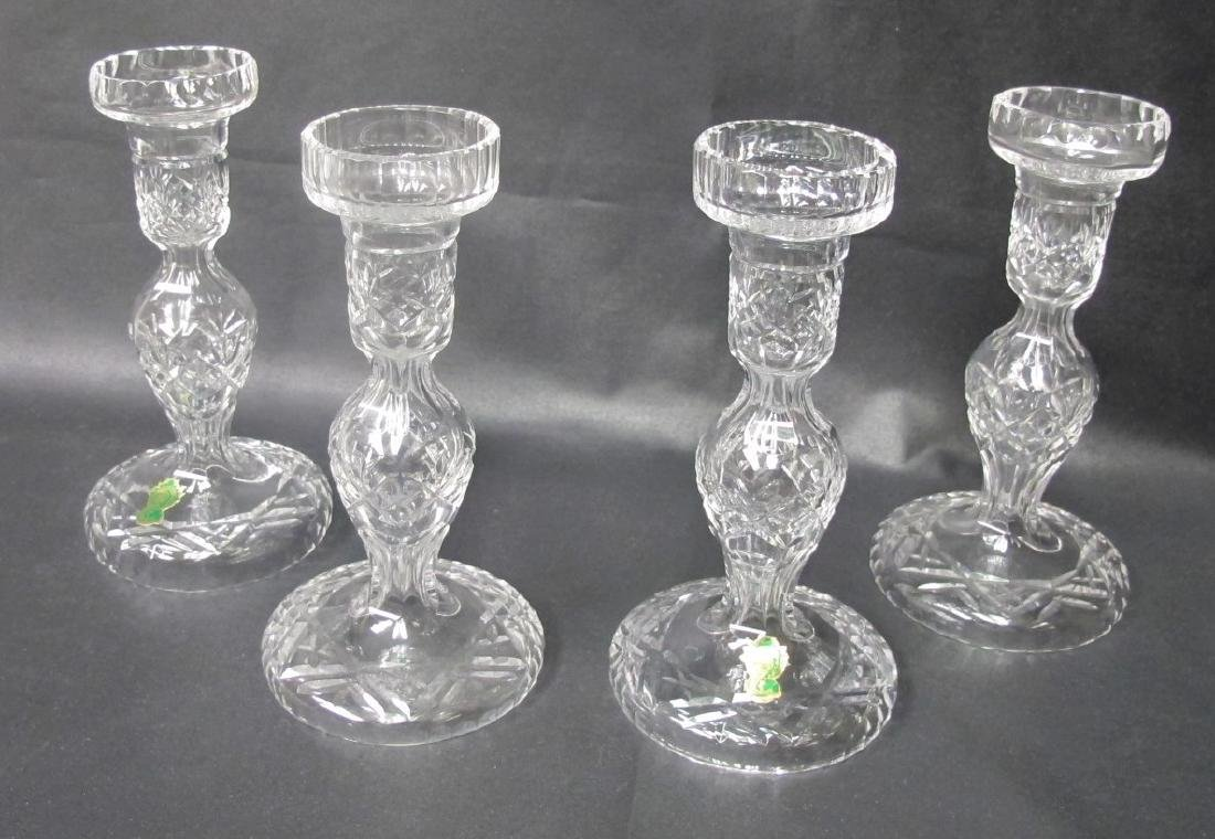 Collection of Four(4) Waterford Cyrstal Candle Sticks