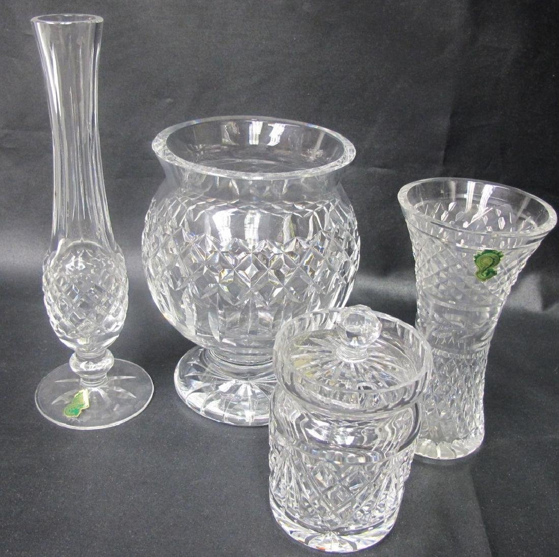 Collection of Four Pieces of Waterford Crystal to