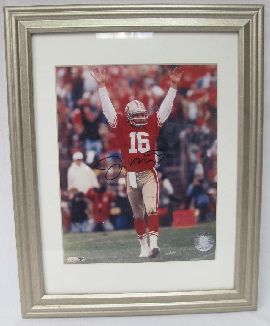 Joe Montana Framed Autographed Photograph with COA