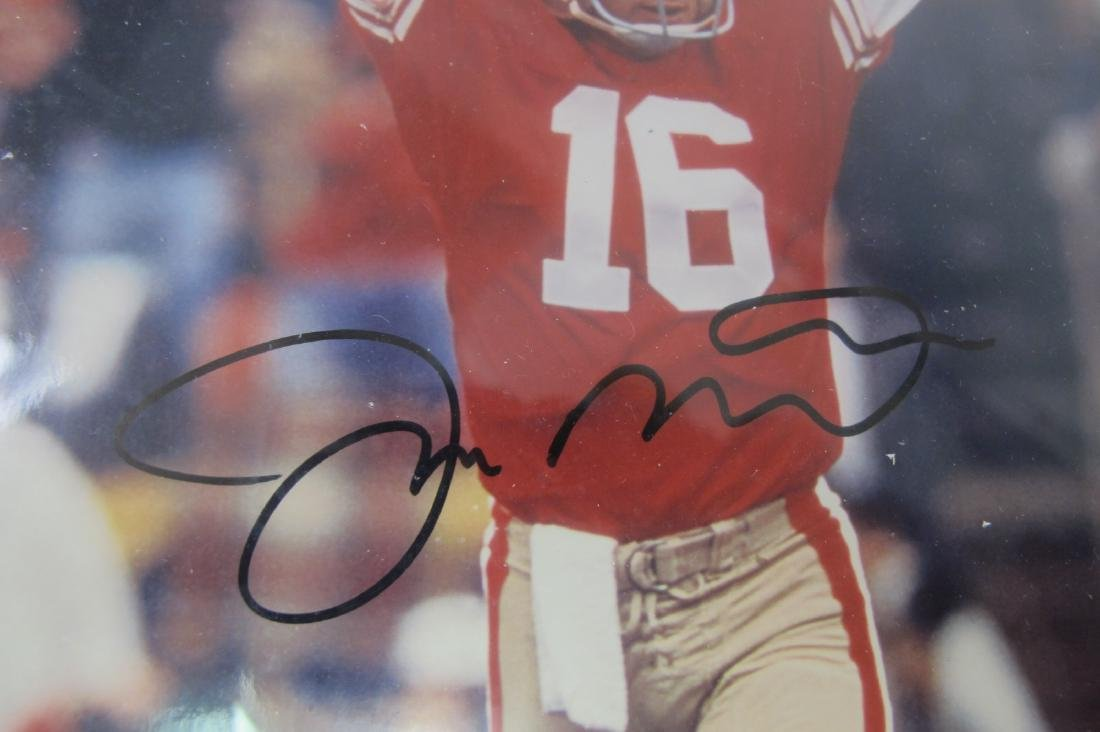 Joe Montana Framed Autographed Photograph with COA - 2