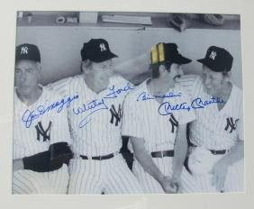 Joe Dimaggio, Whitey Ford, Mickey Mantle And Billy