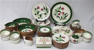 """Stangl Pottery """"Thistle"""" Pattern Partial Dinner Set to"""