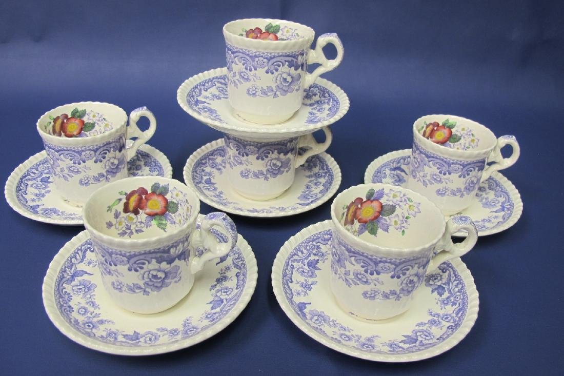 Copeland Spode Mayflower Pattern, Six (6) Cups and Six