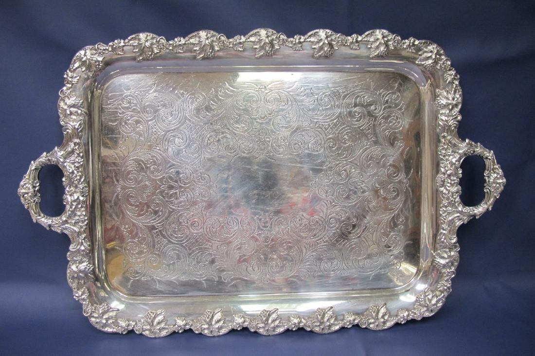 Three Pieces of Silver Plate to Include Tray and Two - 4