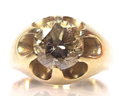 14K Yellow Gold Gent's Natural Champagne/Bronze