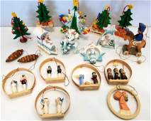 Collection of 18 Miscellaneous Hand Carved Wooden