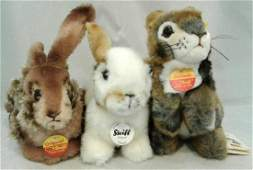 Collection of Three Steiff Stuffed Animals to Include