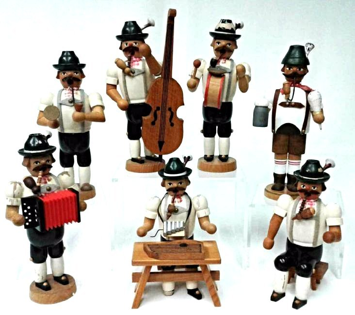 Collection of Seven Old World Christmas Musician