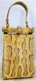 Vintage Art Deco Hermes Vintage Python Skin Bag