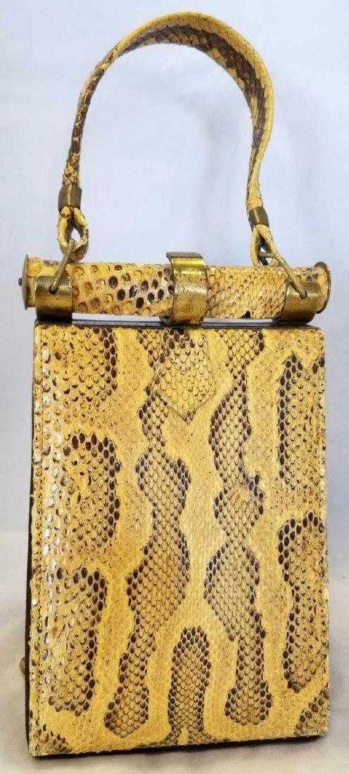 6d0283102ff2 Vintage Art Deco Hermes Vintage Python Skin Bag
