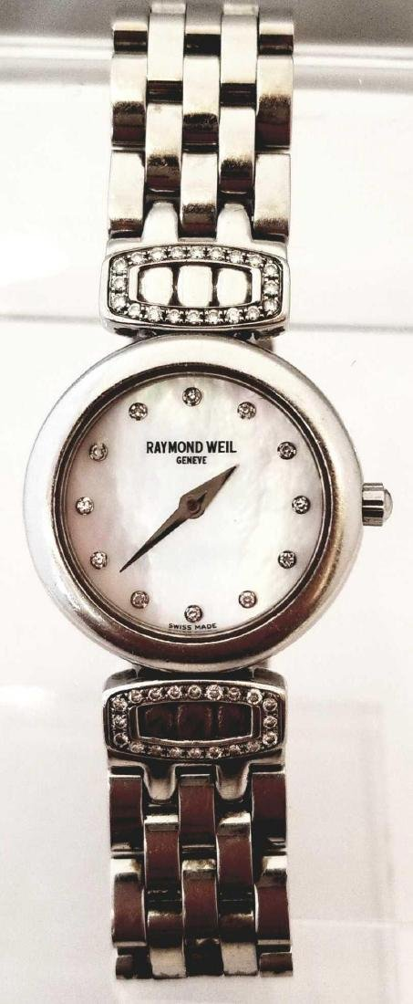 18K White Gold Electroplated Raymond Weil Ladies Wrist