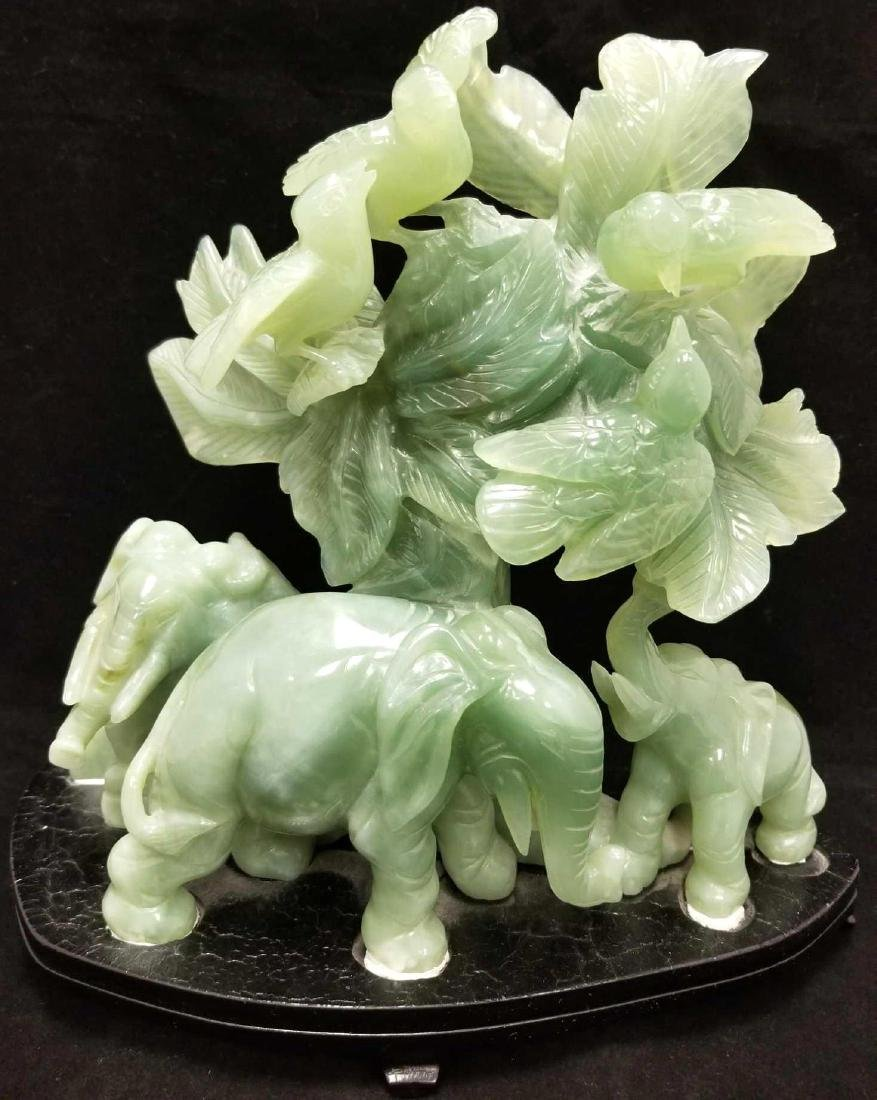 Large Chinese Jadeite Carved Sculpture Depicting