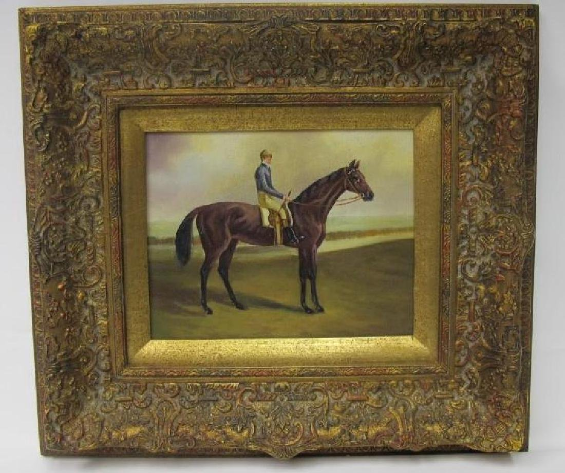 Gentleman Riding a Horse, Unsigned, Oil on Canvas,