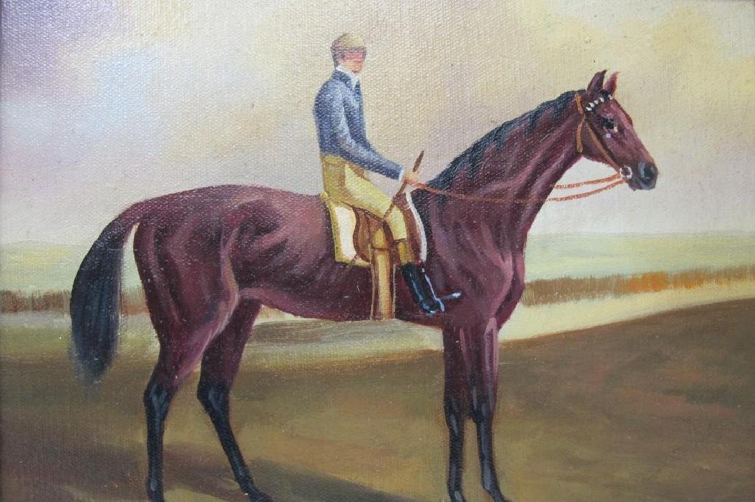 Gentleman Riding a Horse, Unsigned, Oil on Canvas, - 2