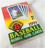 1991 Bowman Baseball Bubblegum Cards Wax Box Made by