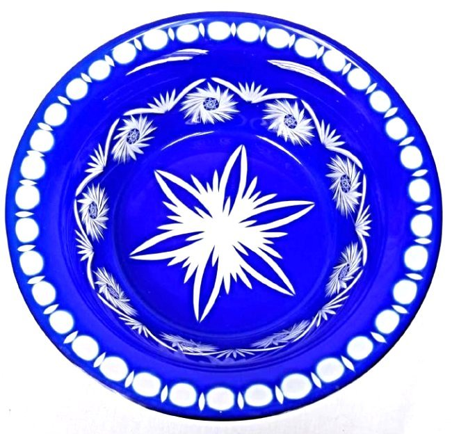 Bohemian Cobalt Cut To Clear Bowl