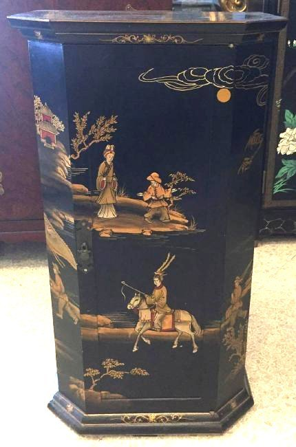Chinoiserie Style Painted Cabinet
