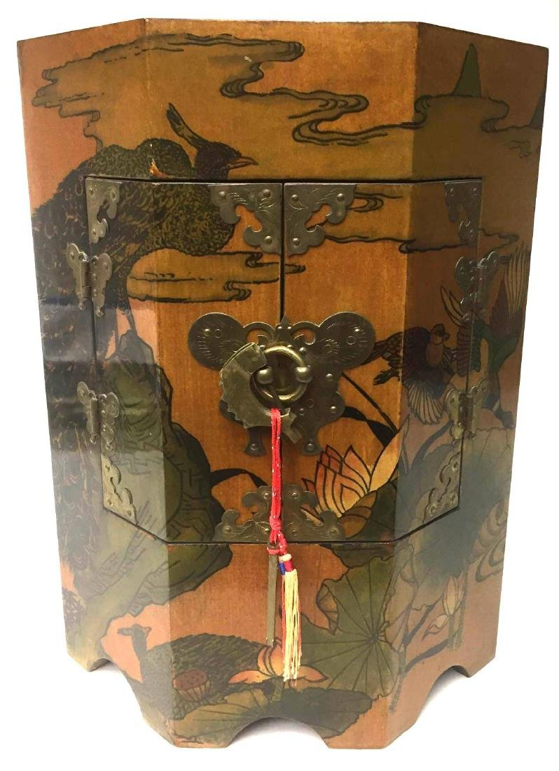 Chinoiserie Style Painted Side table