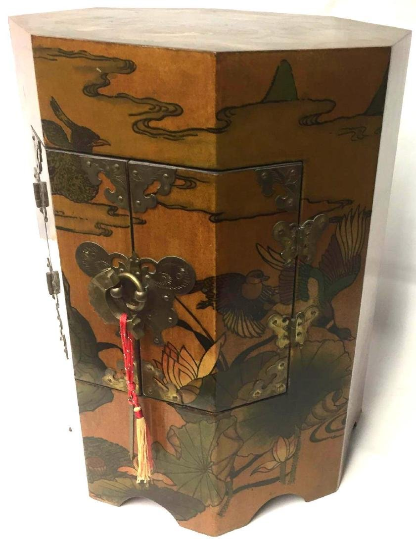 Chinoiserie Style Painted Side table - 2