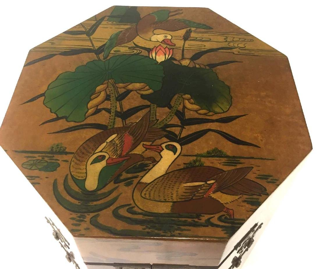 Chinoiserie Style Painted Side table - 3