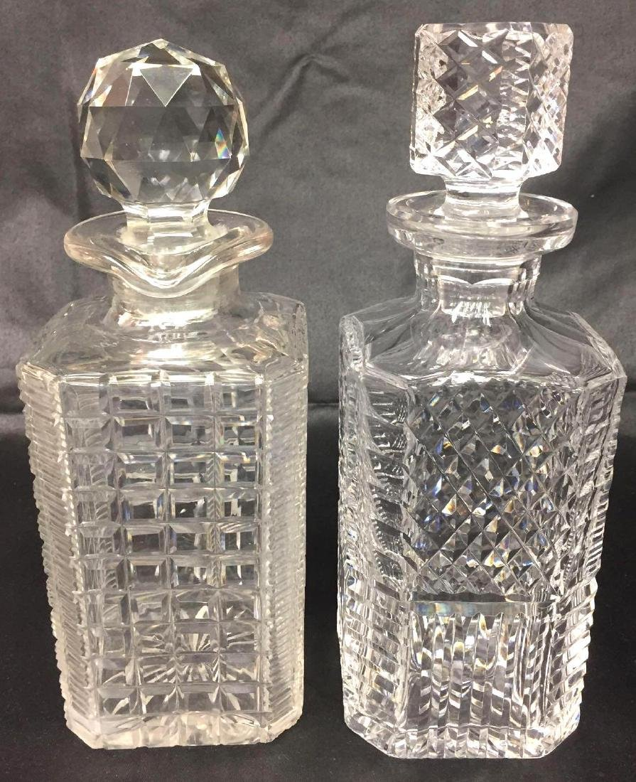Two Cut Crystal Decanters