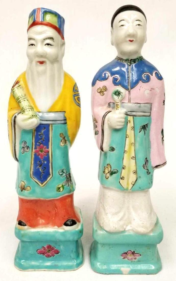 Pair of Asian Porcelain Men