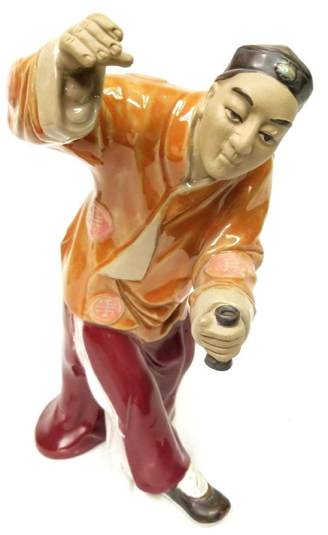 Chinese Ceramic Glazed Terracotta Sculpture