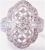 18K WG Art Deco Style Diamond Ring