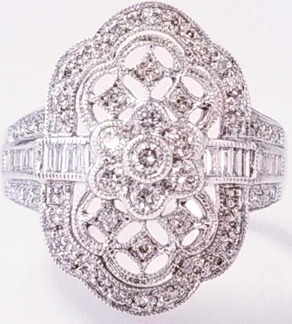 18K WG Art Deco Style Diamond Ring