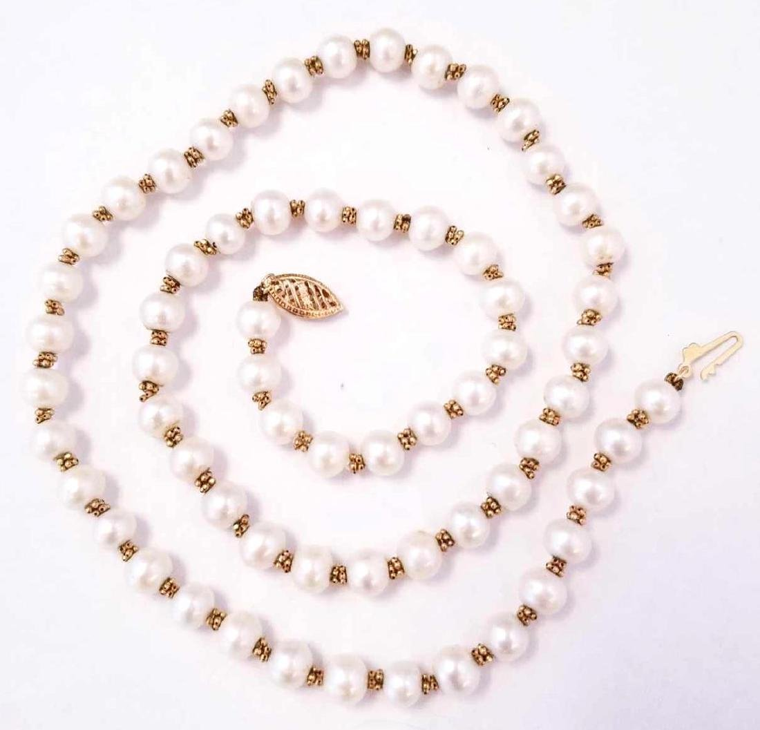 14K YG Pearl Necklace