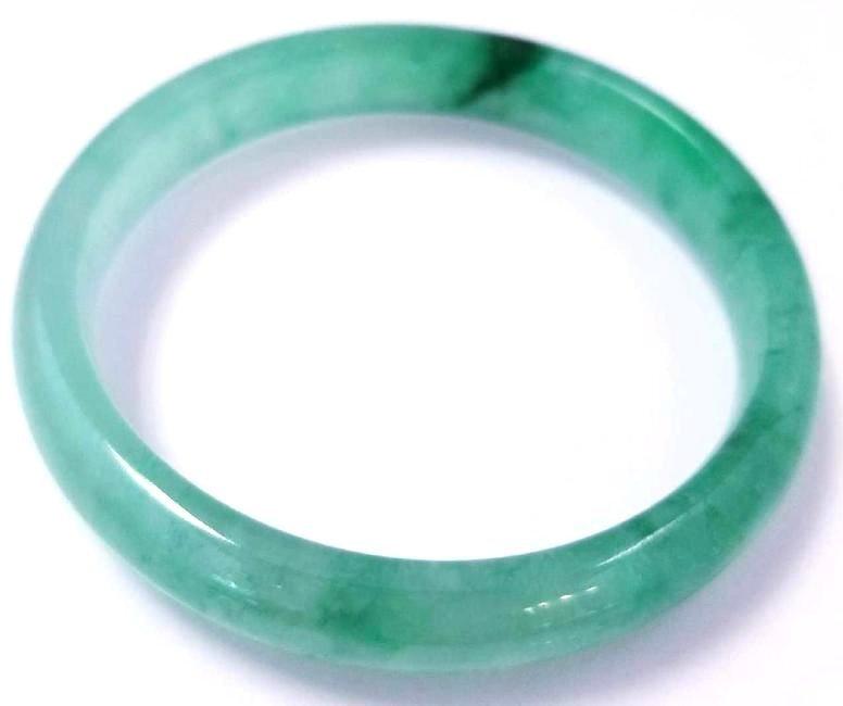 Chinese Serpentine Green Jade Bangle Bracelet