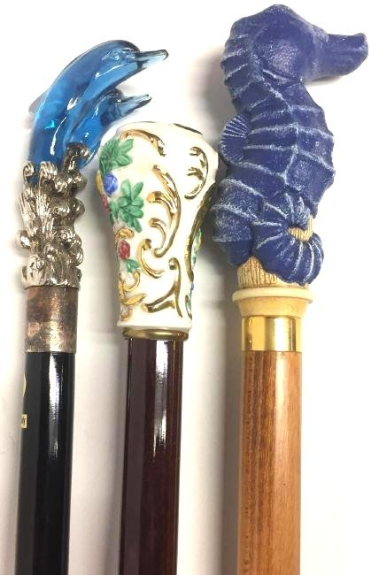 Collection of Three (3) Vintage Walking Sticks