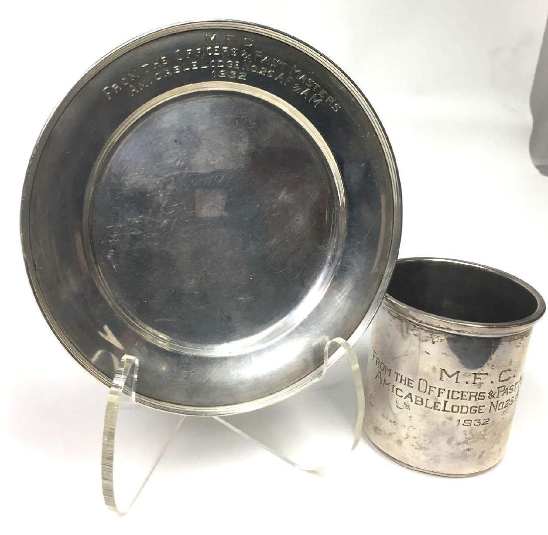 Sterling Silver Cup & Plate
