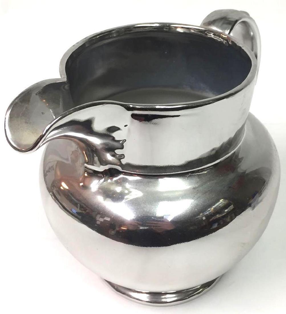 Silvered Luster Porcelain Pitcher