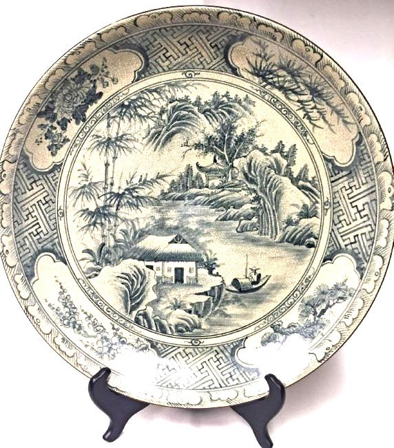 Large Chinese Round Porcelain Plate