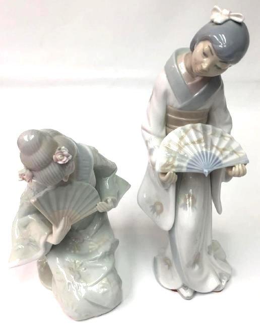 Two Porcelain Geishas,