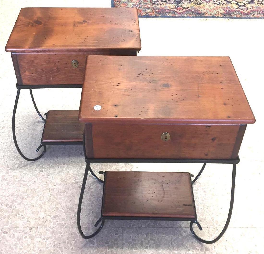 Pair Melvin McFarlin Box Side Tables