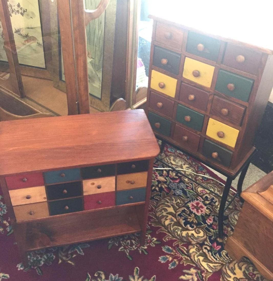 Multi-Colored Storage Drawers & Chest