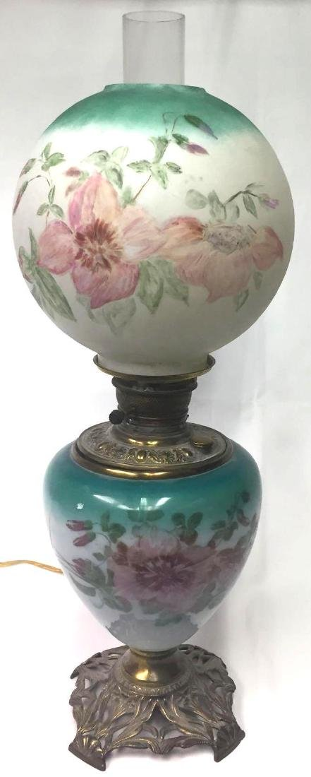 Antique Hurricane Parlor Lamp