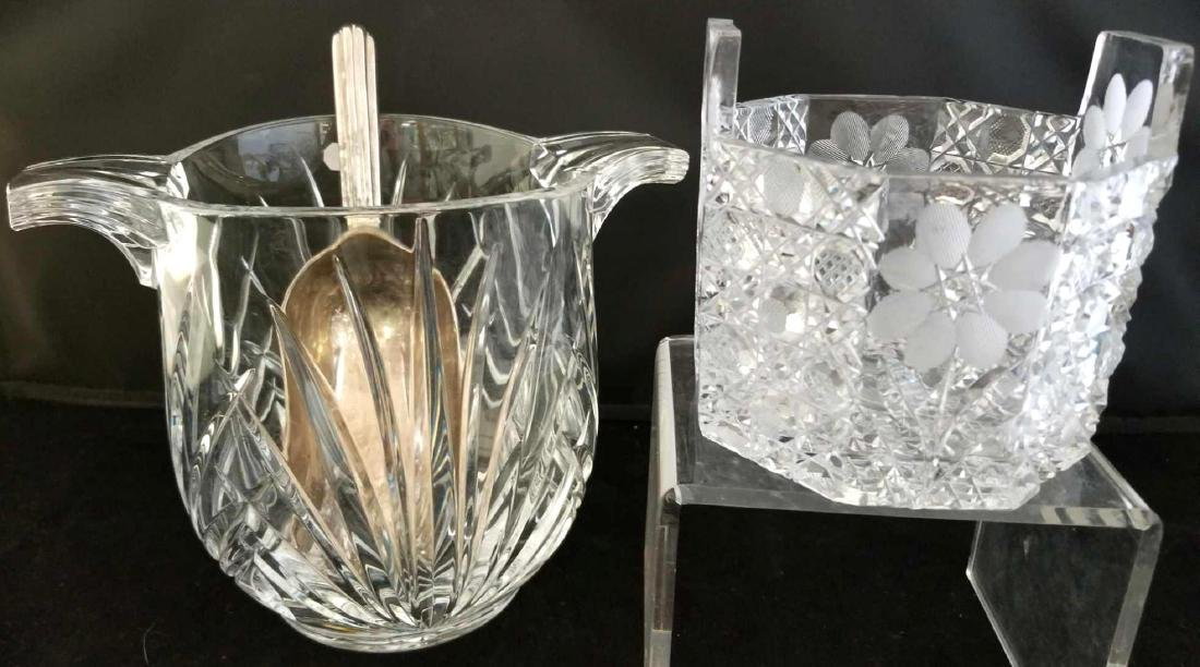 Two Crystal Ice Buckets & Scoop