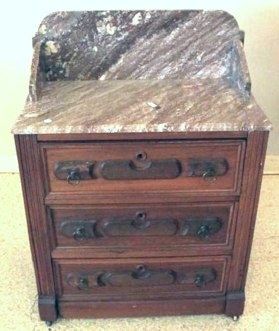 Marble Top Eastlake Victorian Wash Stand