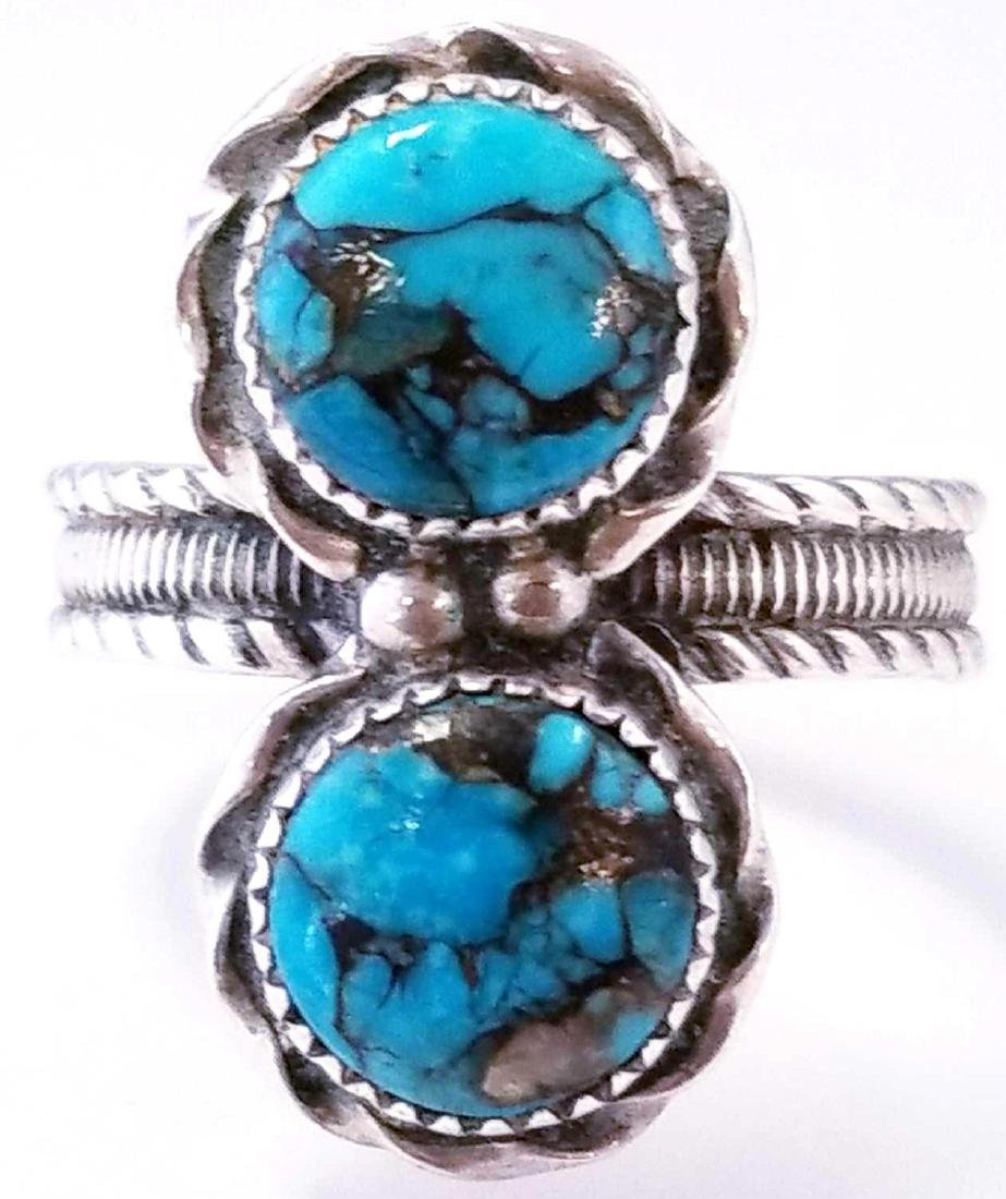 Navajo SS Turquoise Ring