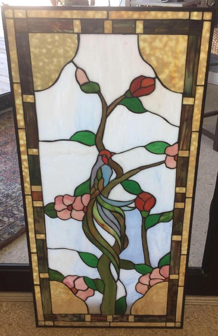 Stained Glass - Bird & Flowers