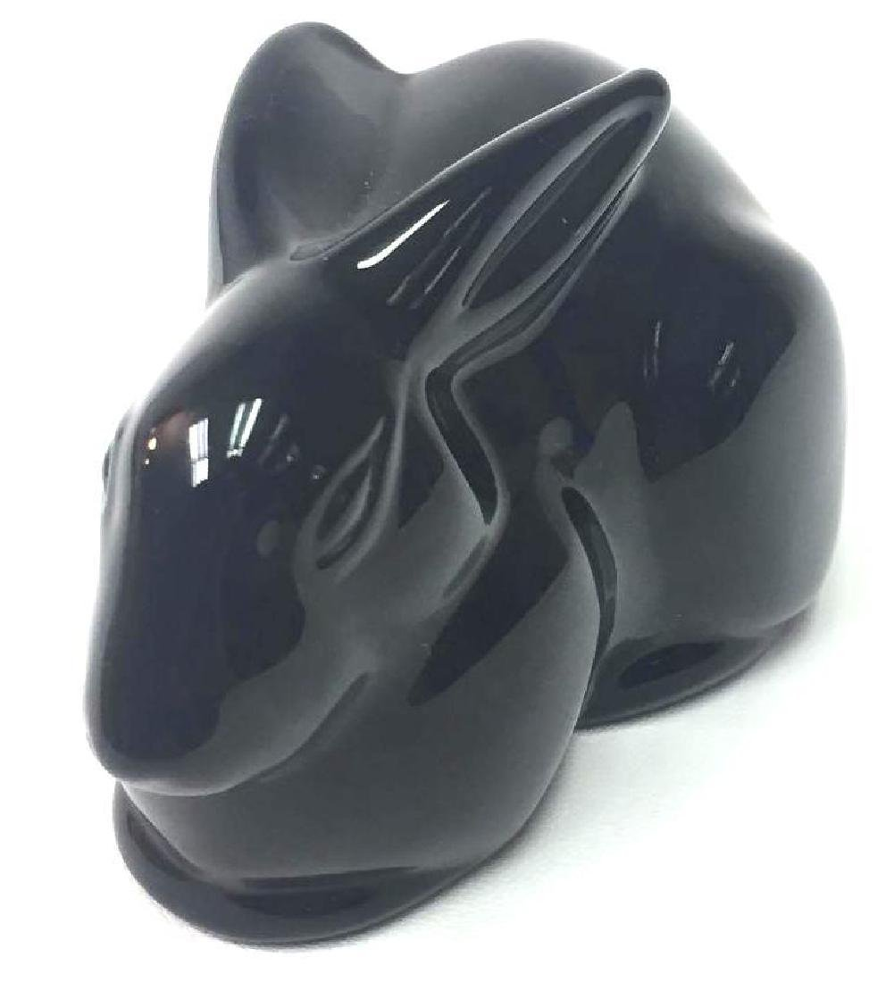 French Baccarat Lead Crystal Black Rabbit