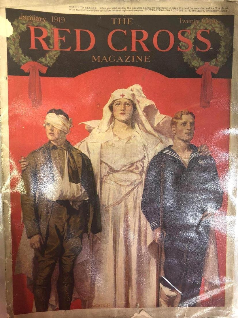 Collection Of Antique Red Cross Magazines From 1919.